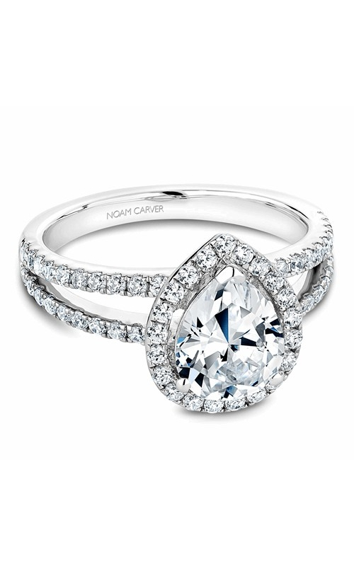 Noam Carver Halo Engagement ring B094-01WM product image