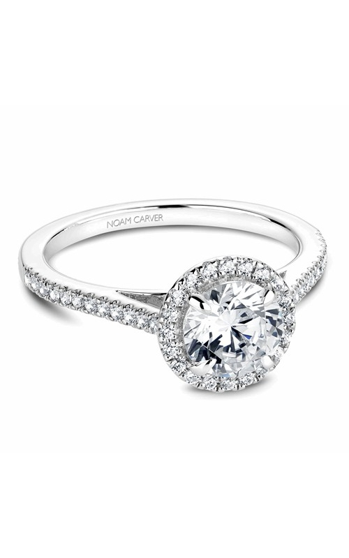 Noam Carver Halo Engagement ring B094-02WM product image