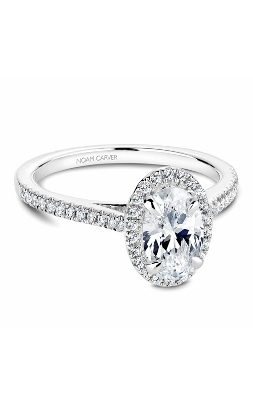 Noam Carver Halo Engagement ring B094-03WM product image