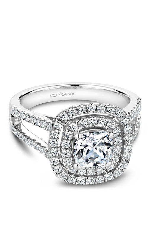 Noam Carver Halo Engagement Ring B220-01WM product image