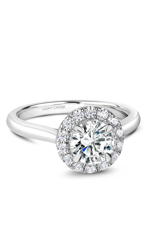 Noam Carver Halo Engagement Ring B240-01WS product image