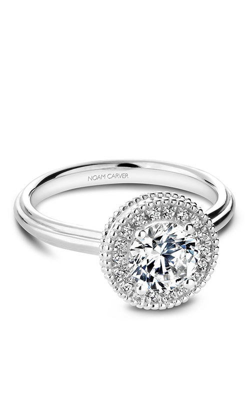 Noam Carver Halo Engagement ring R021-01WM product image