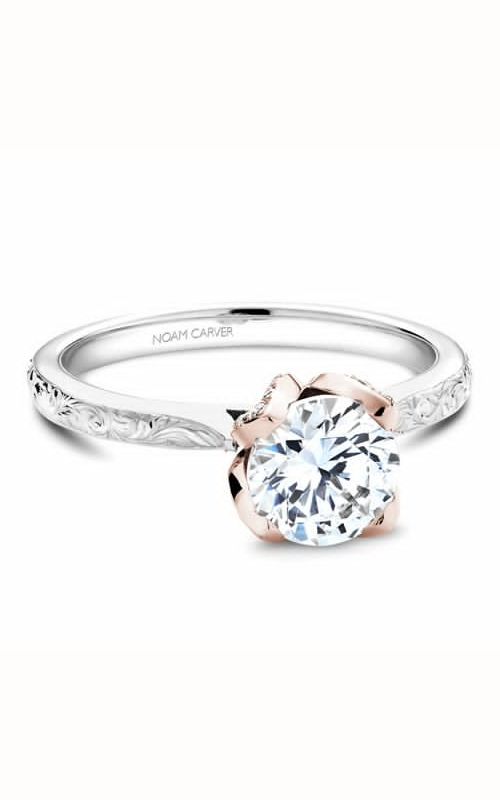 Noam Carver Floral Engagement Ring B019-03WRME product image