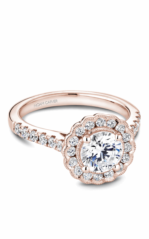 Noam Carver Floral Engagement ring B150-01RM product image