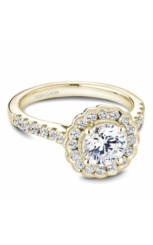 Noam Carver Floral Engagement ring B150-01YM product image