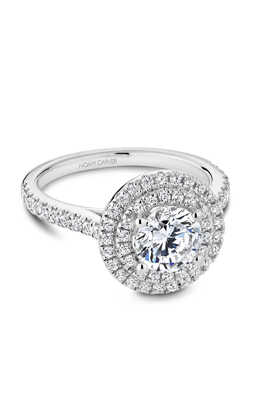 Noam Carver Halo Engagement ring R051-01WS product image