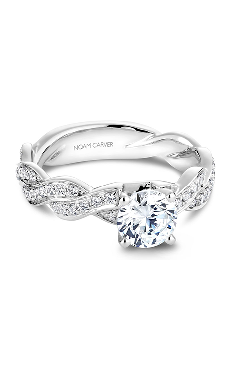 Noam Carver Twist Band Engagement Ring B059-01WM product image