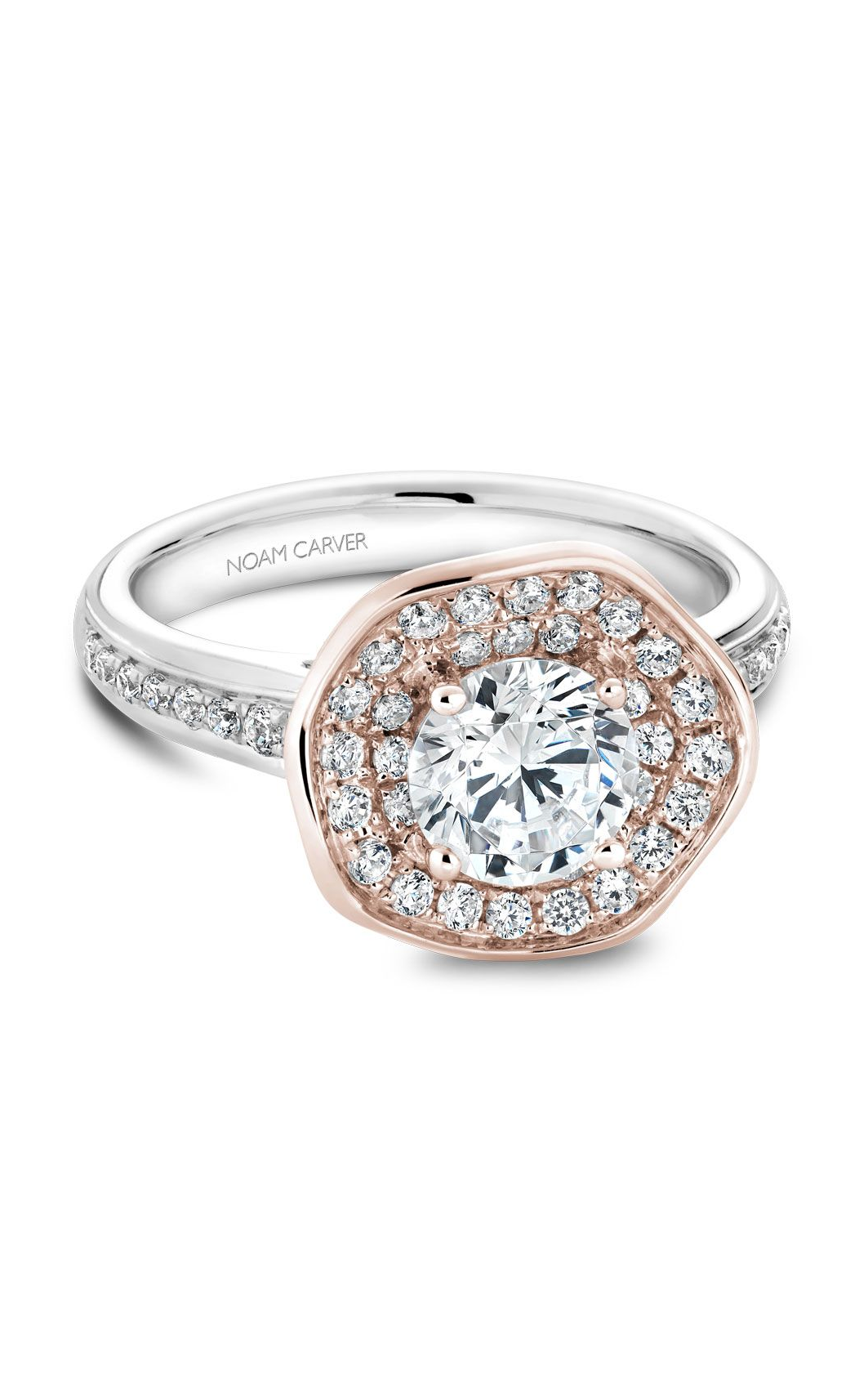 Noam Carver Floral Engagement Ring B014-05WRA product image