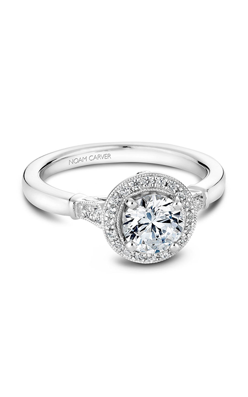 Noam Carver Floral Engagement Ring B077-01WM product image