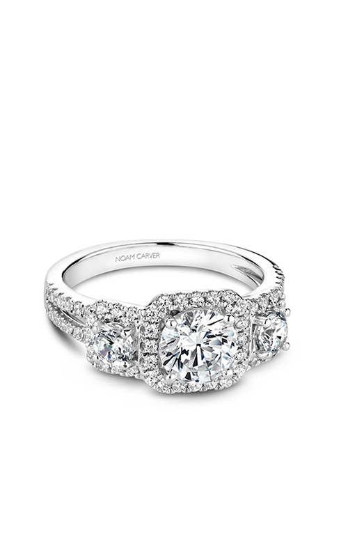 Noam Carver 3 Stone Engagement Ring B210-01WM product image