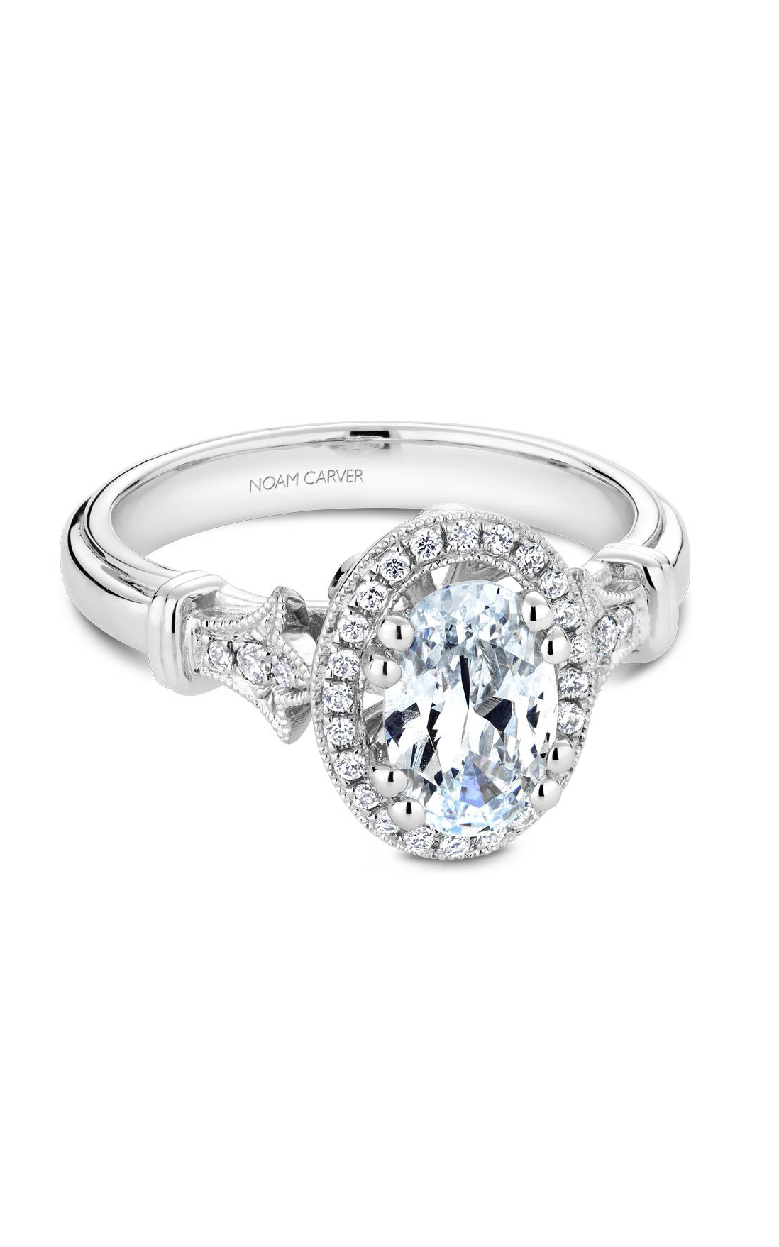Noam Carver Floral Engagement Ring B076-02WM product image