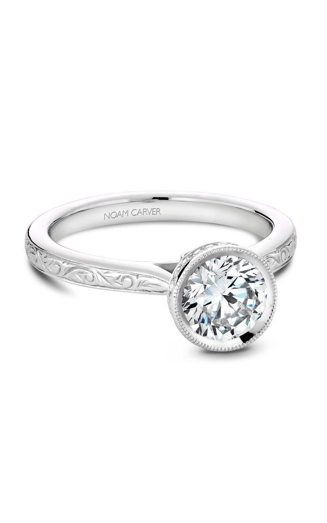 Noam Carver Classic Engagement Ring B140-12EA product image