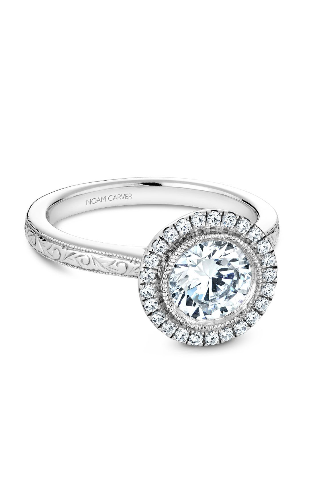 Noam Carver Floral Engagement Ring B140-15EA product image