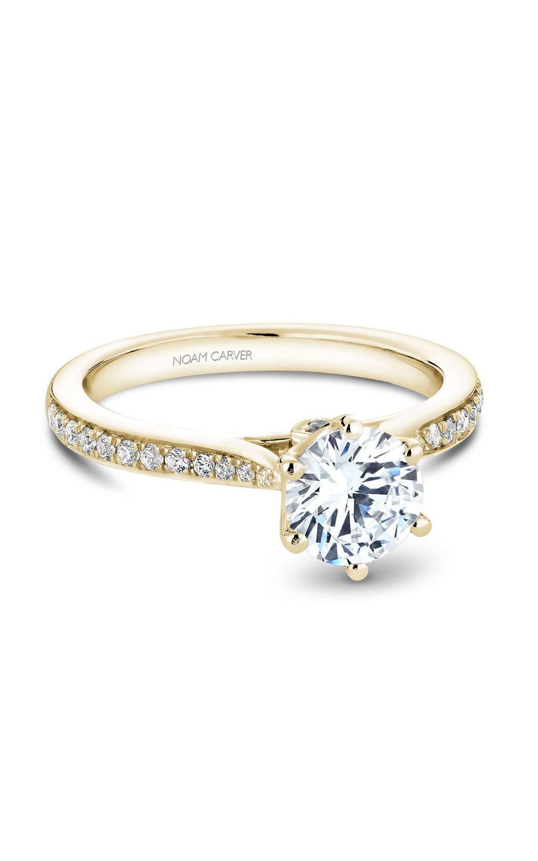 Noam Carver Solitaire Engagement Ring B141-17YM product image