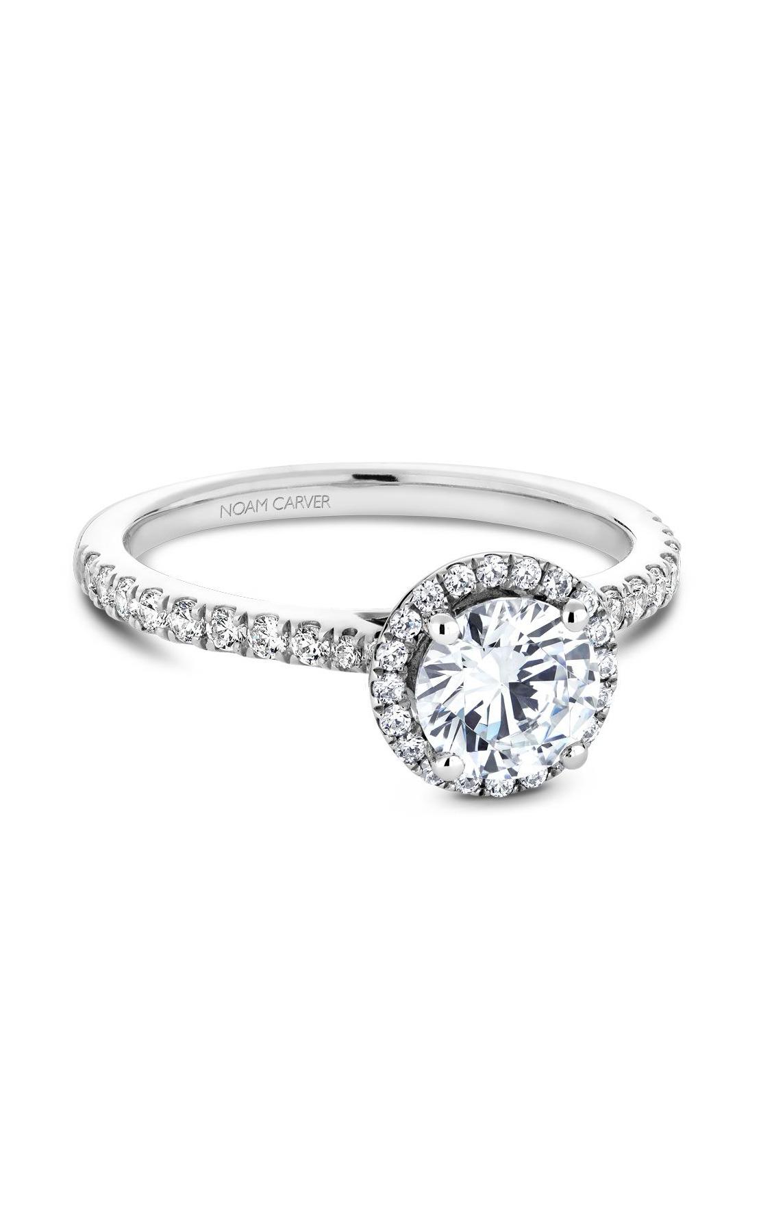 Noam Carver Halo Engagement Ring B142-05WM product image