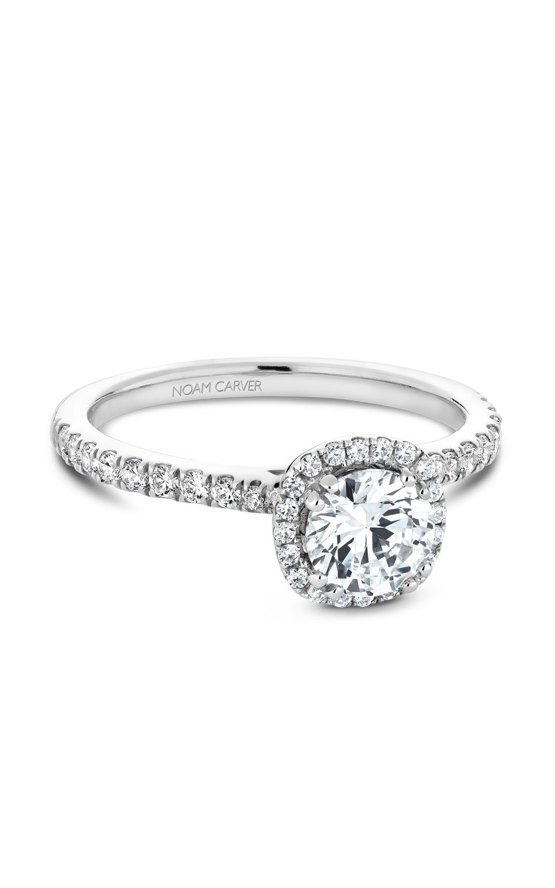 Noam Carver Halo Engagement Ring B142-06WM product image