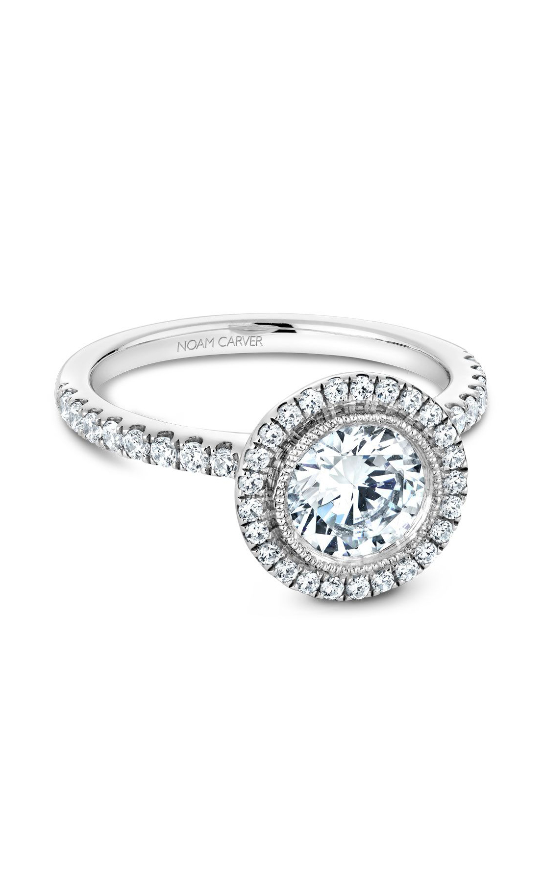 Noam Carver Halo Engagement Ring B142-15WM product image