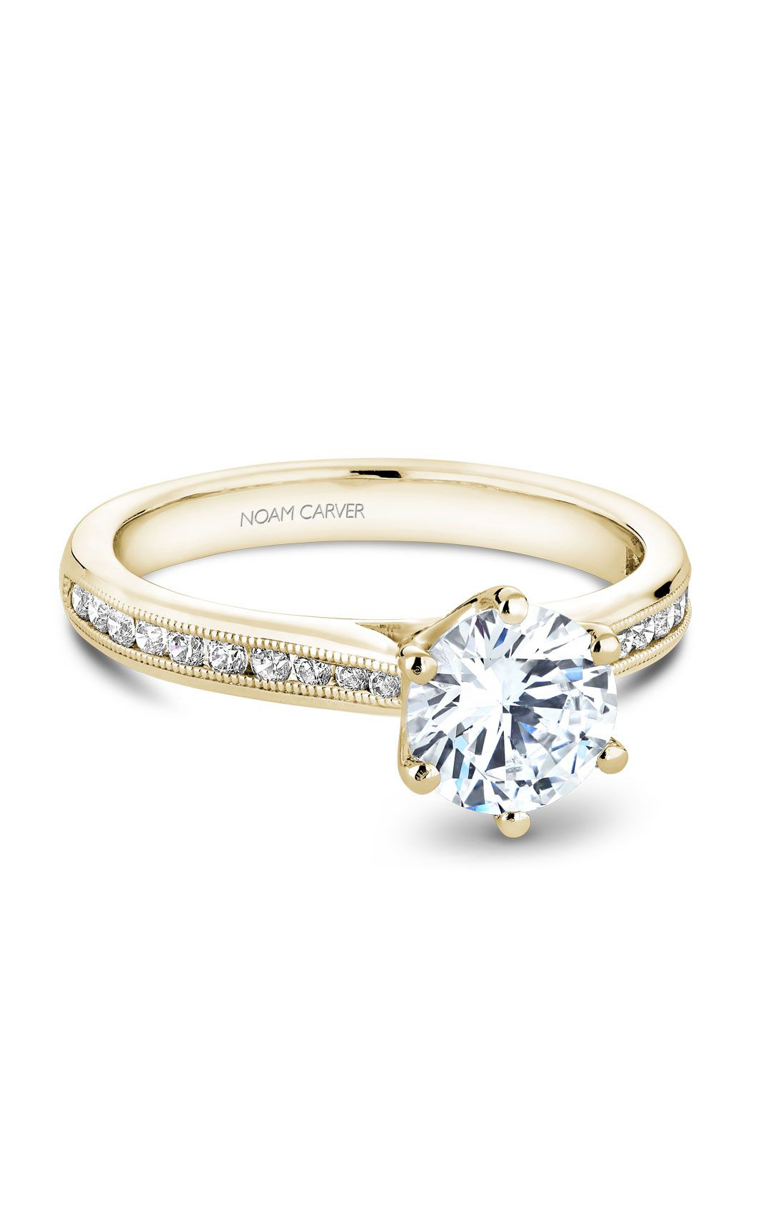 Noam Carver Solitaire Engagement Ring B145-17YM product image