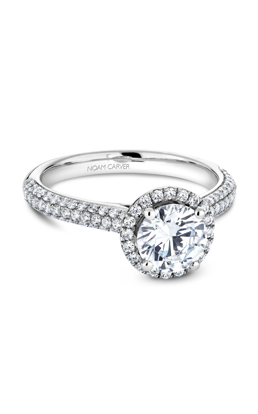 Noam Carver Halo Engagement Ring B146-05WM product image