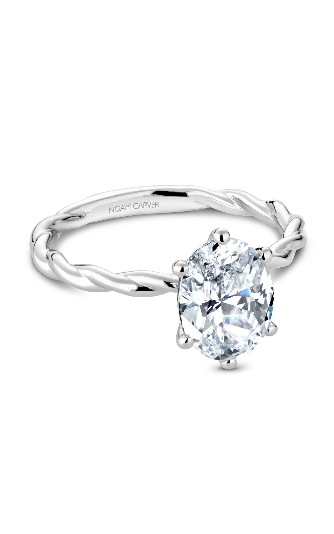 Noam Carver Twist Band Engagement Ring B167-01WM product image