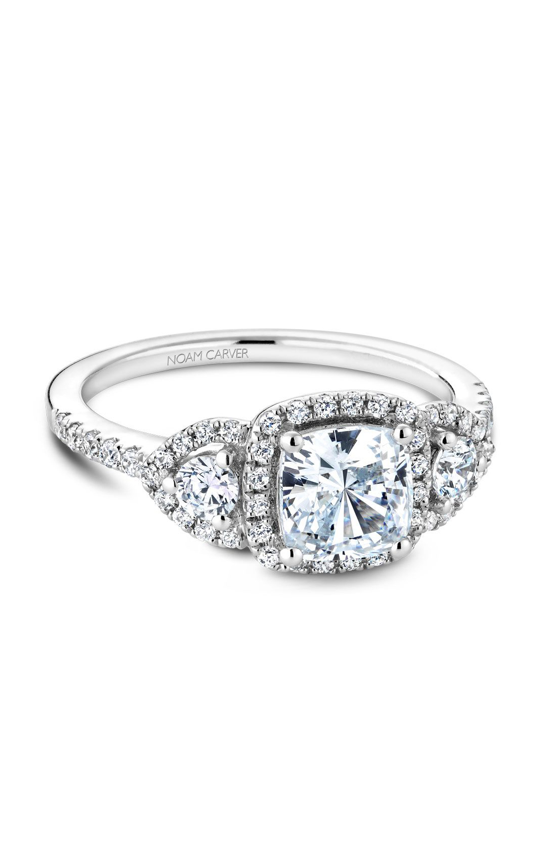 Noam Carver 3 Stone Engagement Ring B213-01A product image