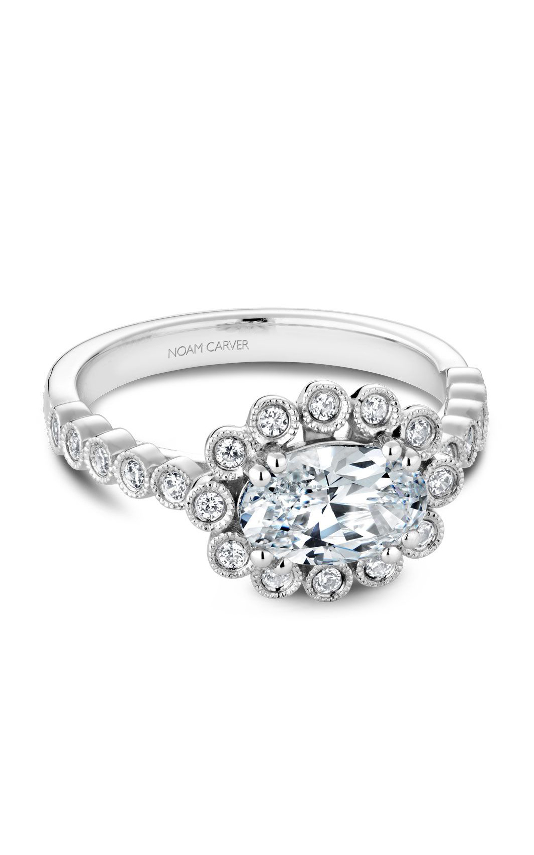 Noam Carver Floral Engagement Ring B221-01A product image