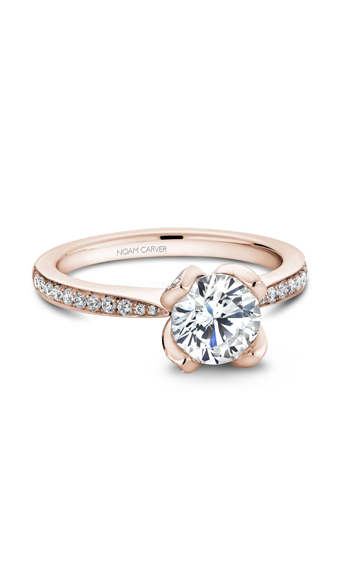Noam Carver Floral Engagement Ring B019-01WM product image