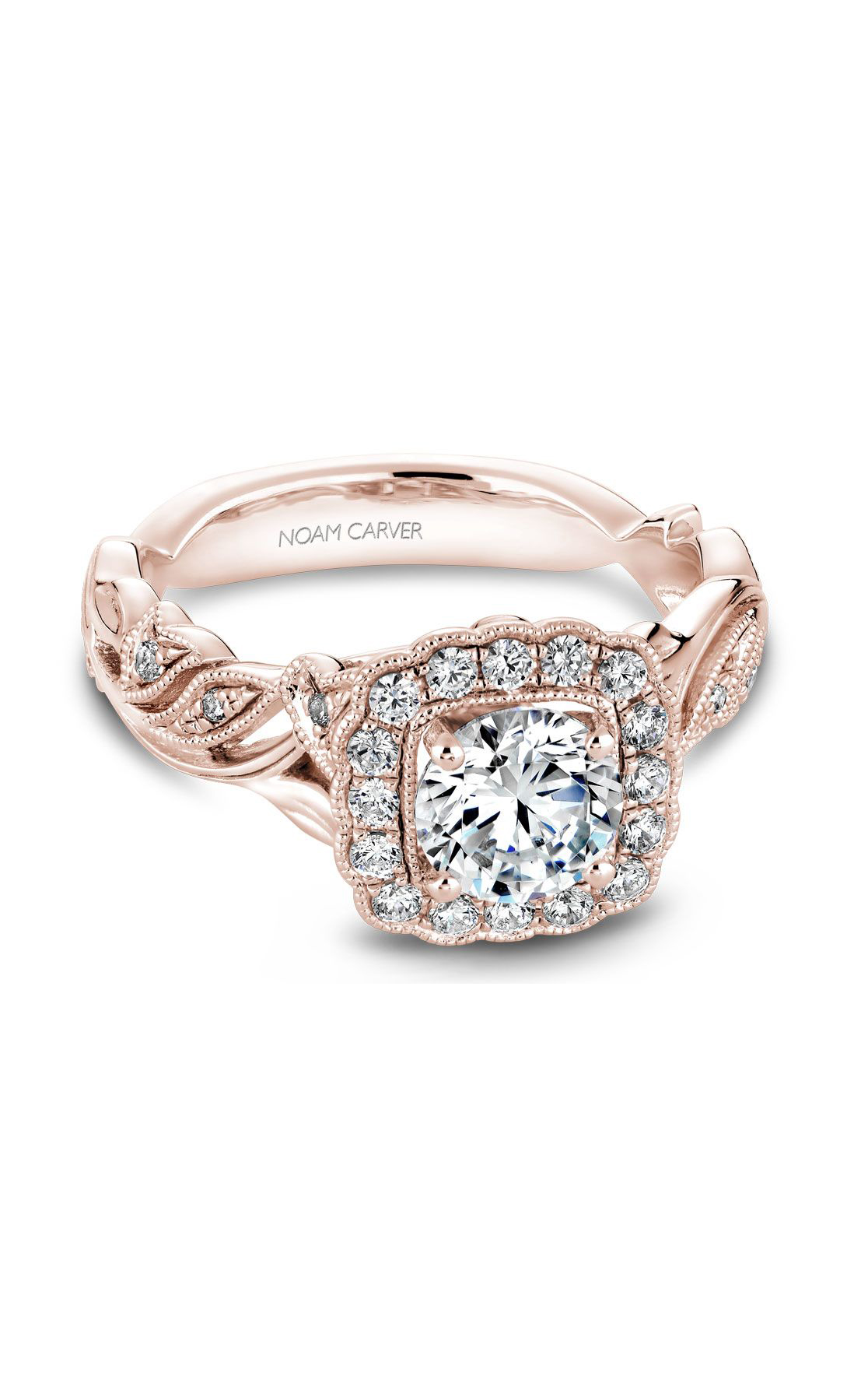 Noam Carver Floral Engagement Ring B075-01RM product image