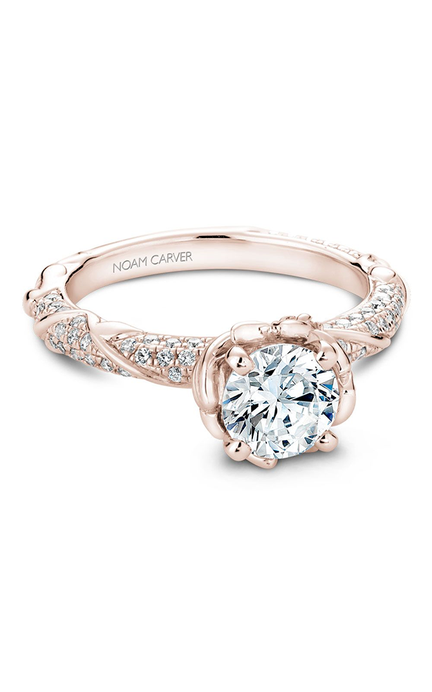 Noam Carver Floral Engagement Ring B081-02RM product image