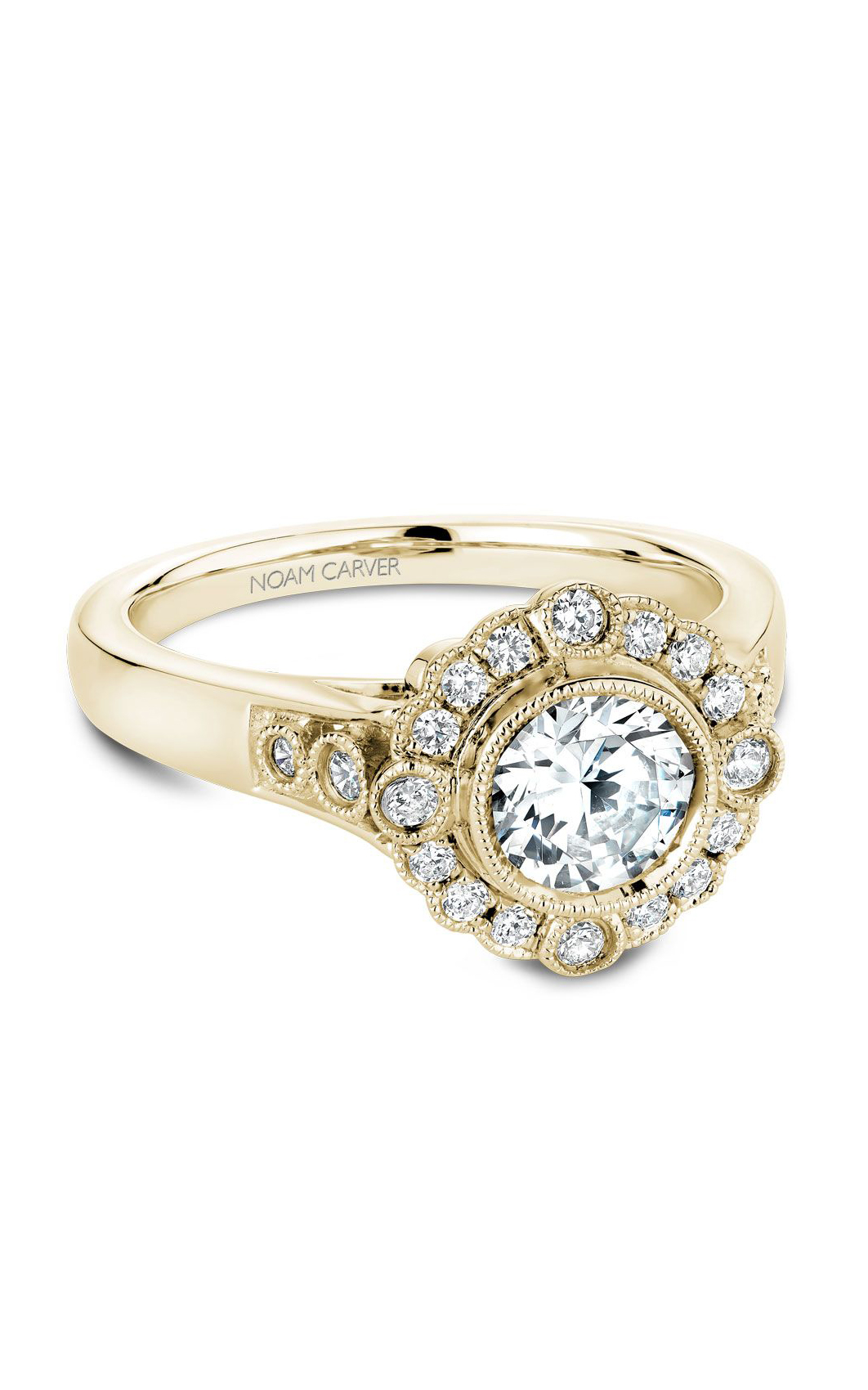 Noam Carver Floral Engagement Ring B091-01YM product image