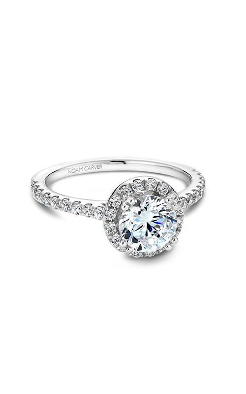 Noam Carver Halo Engagement Ring B007-01WM product image