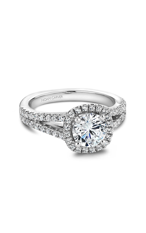 Noam Carver Halo Engagement Ring B015-01WM product image