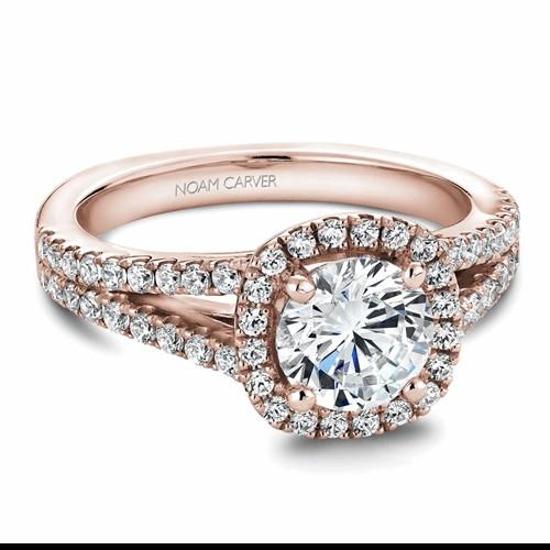 Noam Carver Halo Engagement Ring B015-01RM product image