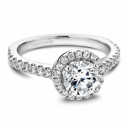 Noam Carver Halo Engagement Ring B029-01WM product image