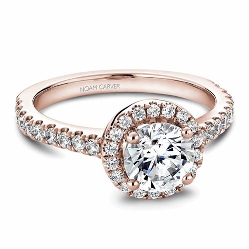 Noam Carver Halo Engagement Ring B029-01RM product image