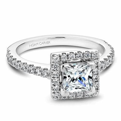 Noam Carver Halo Engagement Ring B029-03RWM product image