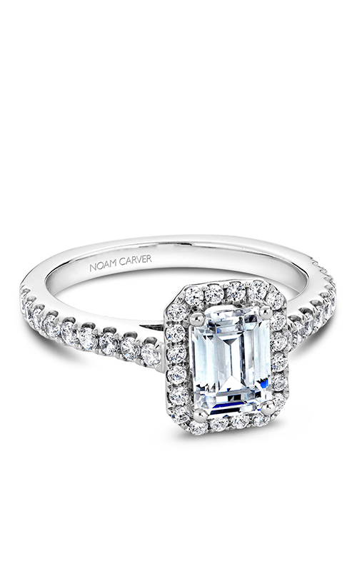 Noam Carver Halo Engagement Ring B034-01WM product image