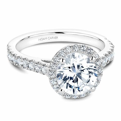 Noam Carver Halo Engagement Ring B034-03WM product image
