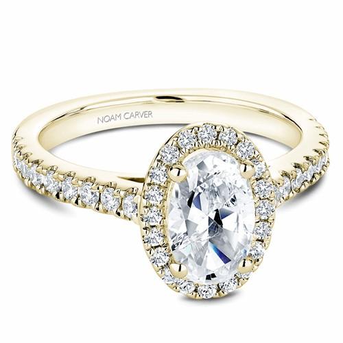 Noam Carver Halo Engagement Ring B034-04YM product image