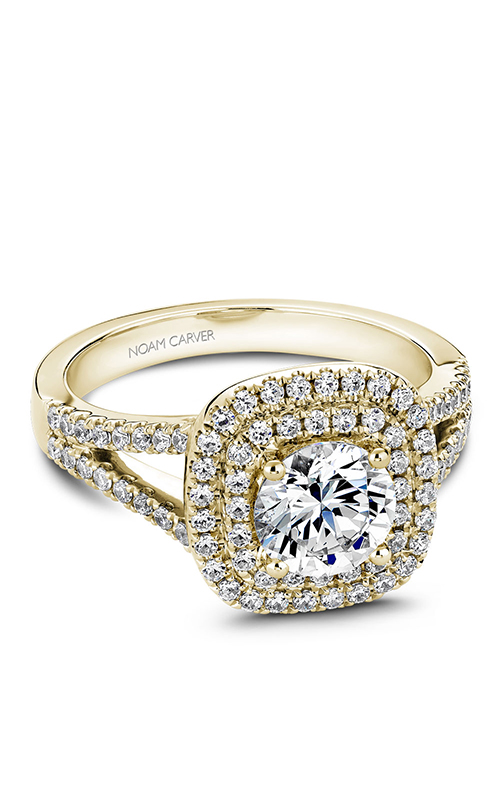 Noam Carver Halo Engagement Ring B035-01YM product image