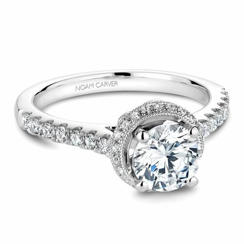 Noam Carver Halo Engagement Ring B082-01WM product image