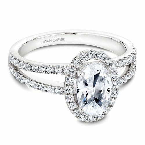 Noam Carver Halo Engagement Ring B092-02WM product image
