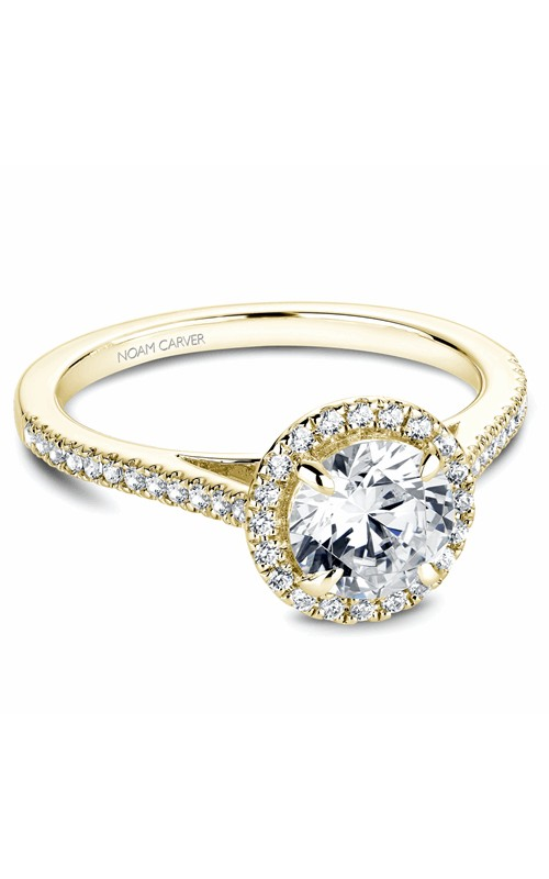 Noam Carver Halo Engagement Ring B094-02YM product image