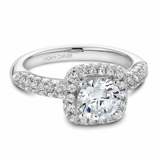Noam Carver Halo Engagement Ring B100-06WM product image
