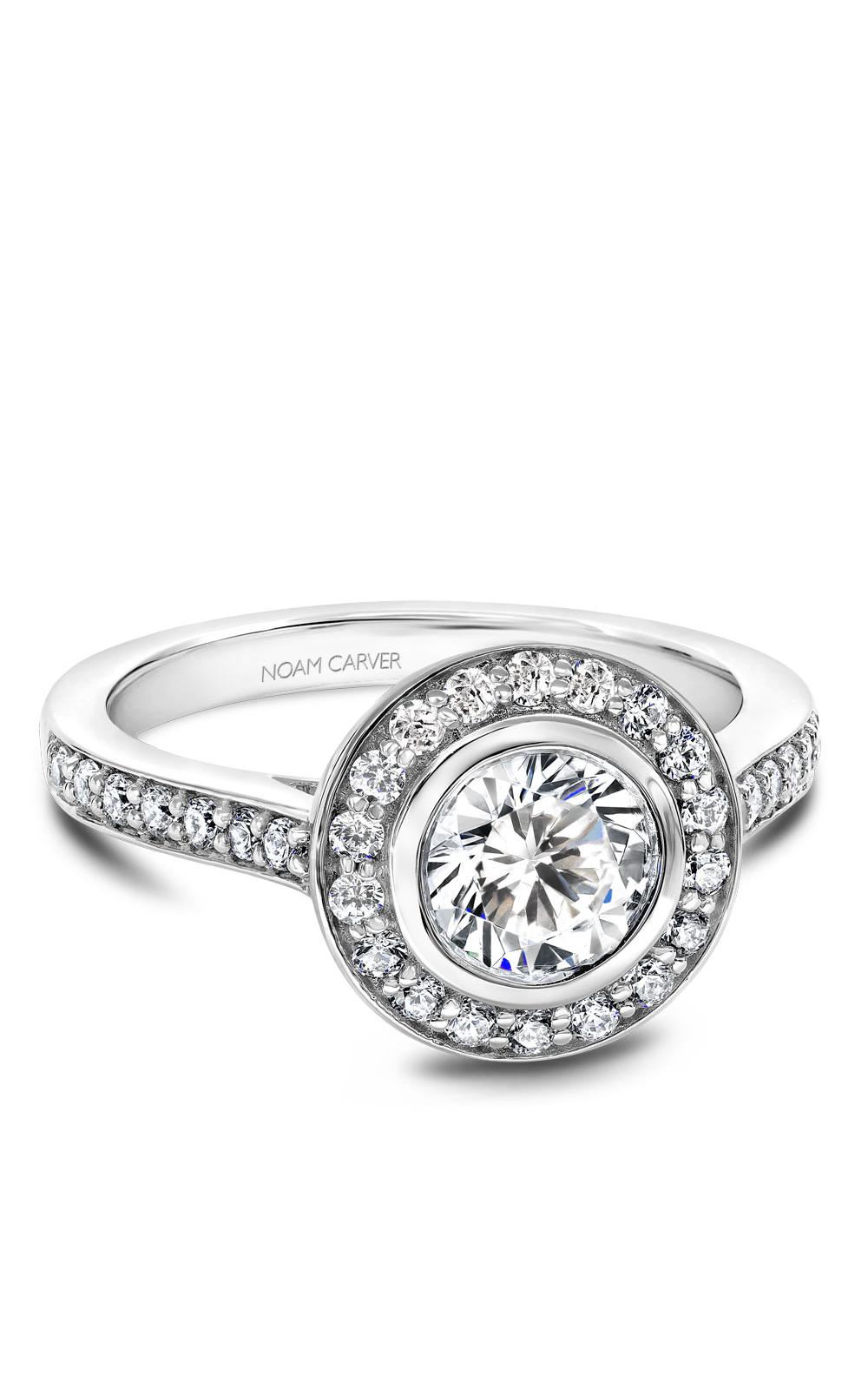 Noam Carver Halo Engagement Ring B153-01WM product image