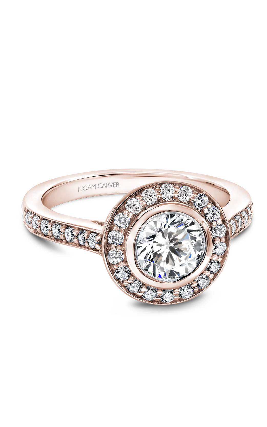 Noam Carver Halo Engagement Ring B153-01RM product image