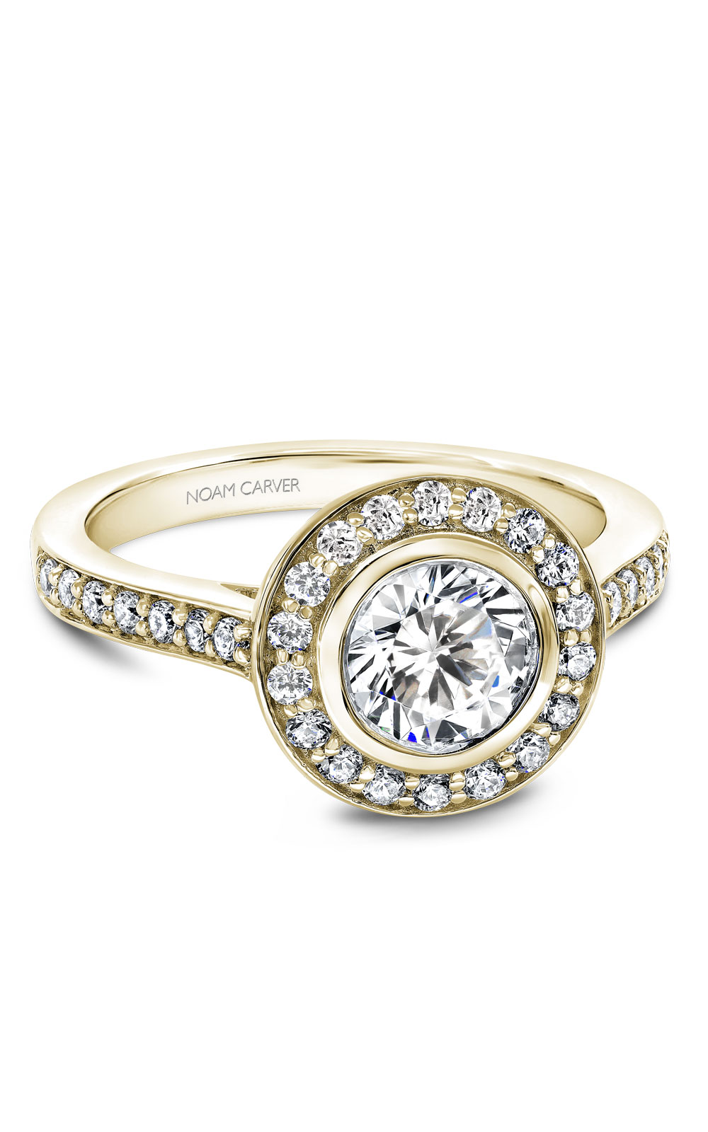 Noam Carver Halo Engagement Ring B153-01YM product image