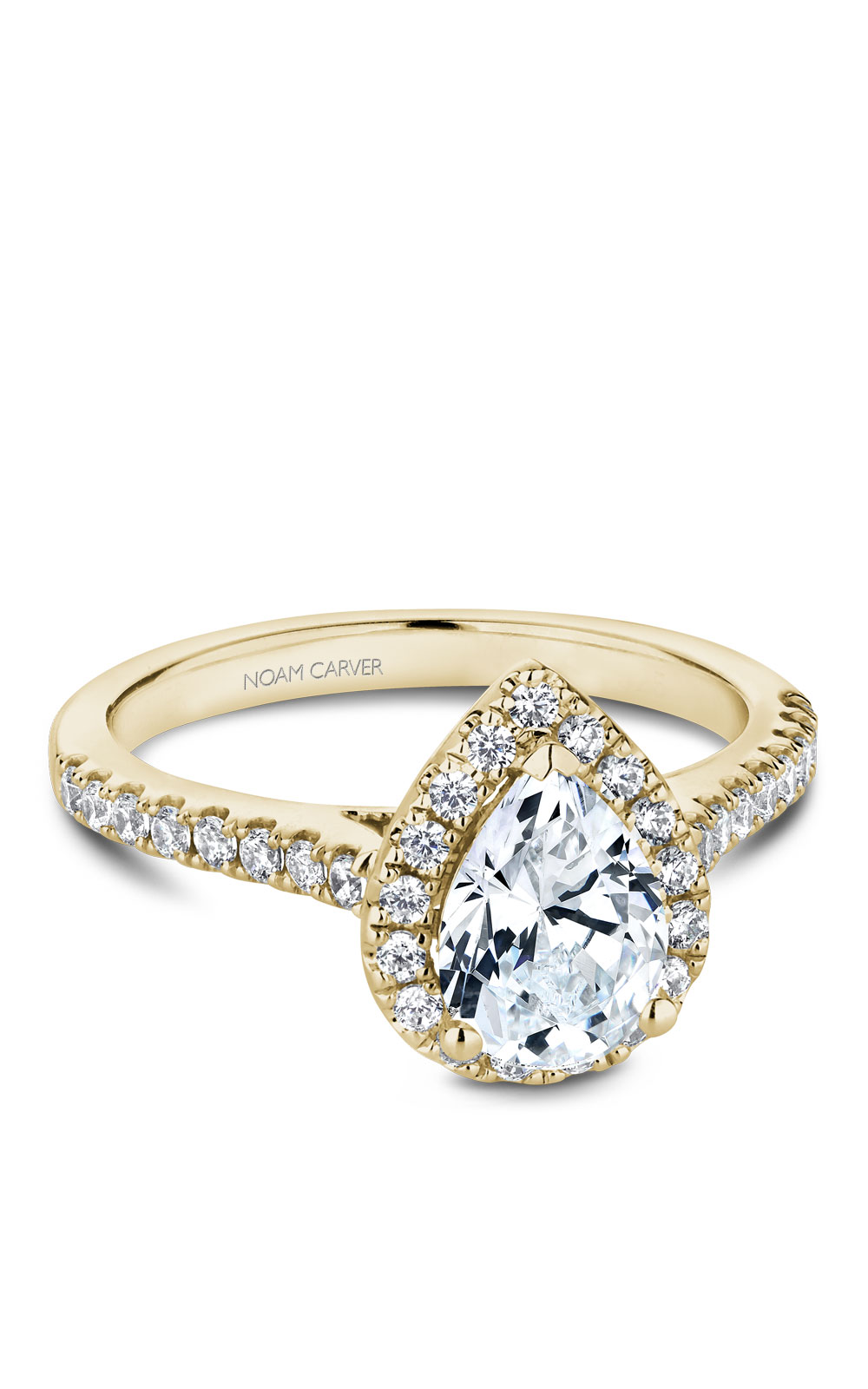 Noam Carver Halo Engagement Ring B169-01YM product image