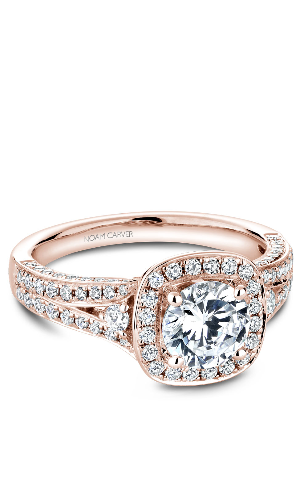 Noam Carver Halo Engagement Ring B172-01RM product image