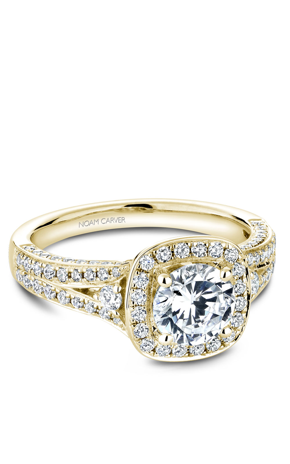 Noam Carver Halo Engagement Ring B172-01YM product image